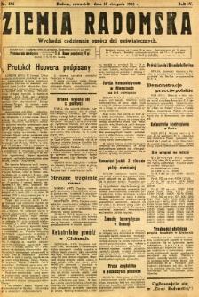 Ziemia Radomska, 1931, R. 4, nr 184
