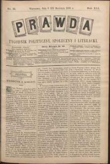 Prawda : tygodnik polityczny, społeczny i literacki, 1896, R. 16, nr 16