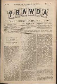 Prawda : tygodnik polityczny, społeczny i literacki, 1896, R. 16, nr 19