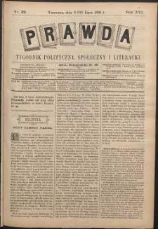 Prawda : tygodnik polityczny, społeczny i literacki, 1896, R. 16, nr 29