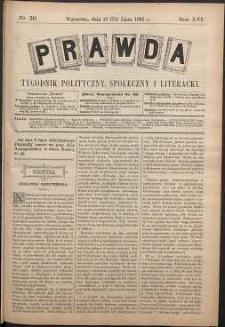 Prawda : tygodnik polityczny, społeczny i literacki, 1896, R. 16, nr 30