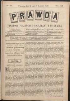 Prawda : tygodnik polityczny, społeczny i literacki, 1896, R. 16, nr 32
