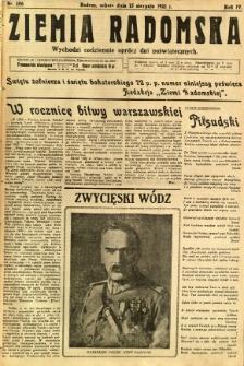 Ziemia Radomska, 1931, R. 4, nr 186