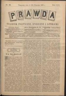 Prawda : tygodnik polityczny, społeczny i literacki, 1896, R. 16, nr 39