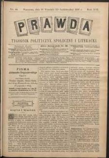 Prawda : tygodnik polityczny, społeczny i literacki, 1896, R. 16, nr 41