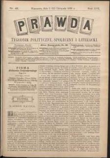 Prawda : tygodnik polityczny, społeczny i literacki, 1896, R. 16, nr 46