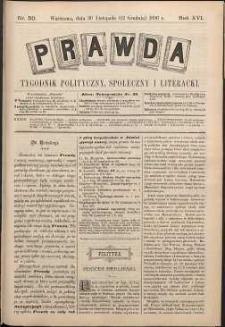 Prawda : tygodnik polityczny, społeczny i literacki, 1896, R. 16, nr 50