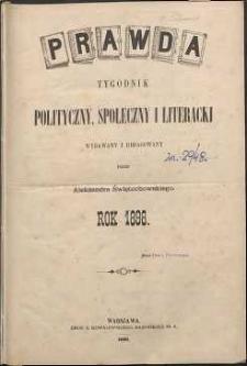 Prawda : tygodnik polityczny, społeczny i literacki, 1898, R. 18, spis rzeczy