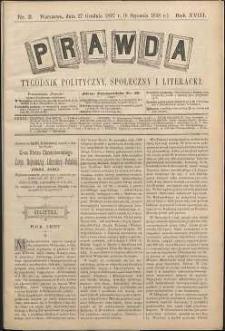 Prawda : tygodnik polityczny, społeczny i literacki, 1898, R. 18, nr 2