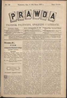 Prawda : tygodnik polityczny, społeczny i literacki, 1898, R. 18, nr 13