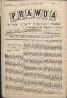 Prawda : tygodnik polityczny, społeczny i literacki, 1898, R. 18, nr 20