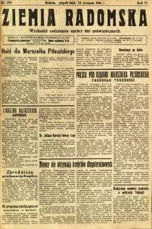 Ziemia Radomska, 1931, R. 4, nr 190