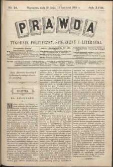 Prawda : tygodnik polityczny, społeczny i literacki, 1898, R. 18, nr 24
