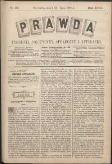 Prawda : tygodnik polityczny, społeczny i literacki, 1898, R. 18, nr 29