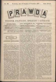Prawda : tygodnik polityczny, społeczny i literacki, 1898, R. 18, nr 36