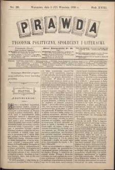 Prawda : tygodnik polityczny, społeczny i literacki, 1898, R. 18, nr 38