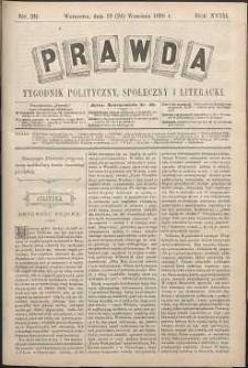 Prawda : tygodnik polityczny, społeczny i literacki, 1898, R. 18, nr 39