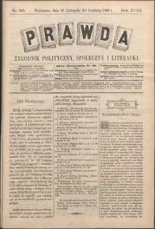 Prawda : tygodnik polityczny, społeczny i literacki, 1898, R. 18, nr 50