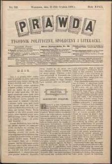 Prawda : tygodnik polityczny, społeczny i literacki, 1898, R. 18, nr 52