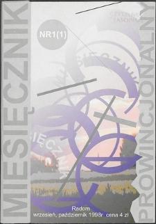 Miesięcznik Prowincjonalny, 1998, R. 1, nr 1