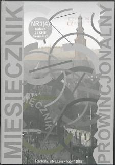 Miesięcznik Prowincjonalny, 1999, R. 2, nr 1/2