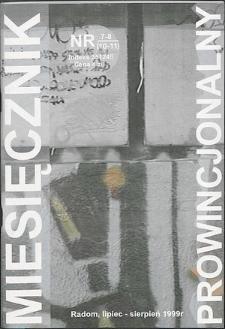 Miesięcznik Prowincjonalny, 1999, R. 2, nr 7/8
