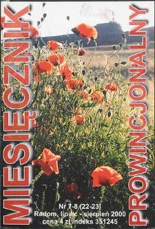 Miesięcznik Prowincjonalny, 2000, R. 3, nr 7/8