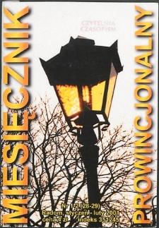 Miesięcznik Prowincjonalny, 2001, R. 4, nr 1/2