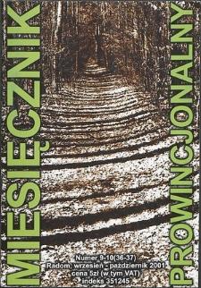 Miesięcznik Prowincjonalny, 2001, R. 4, nr 9/10