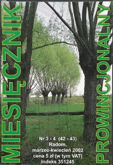 Miesięcznik Prowincjonalny, 2002, R. 5, nr 3/4