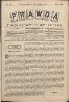 Prawda : tygodnik polityczny, społeczny i literacki, 1899, R. 19, nr 4