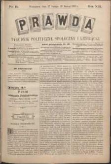 Prawda : tygodnik polityczny, społeczny i literacki, 1899, R. 19, nr 10