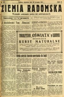 Ziemia Radomska, 1931, R. 4, nr 198
