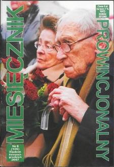 Miesięcznik Prowincjonalny, 2007, R. 9, nr 6