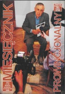Miesięcznik Prowincjonalny, 2008, R. 10, nr 5
