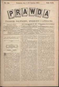 Prawda : tygodnik polityczny, społeczny i literacki, 1899, R. 19, nr 24