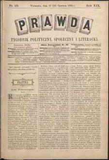 Prawda : tygodnik polityczny, społeczny i literacki, 1899, R. 19, nr 25