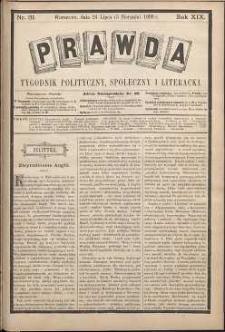 Prawda : tygodnik polityczny, społeczny i literacki, 1899, R. 19, nr 31