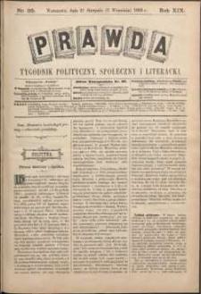 Prawda : tygodnik polityczny, społeczny i literacki, 1899, R. 19, nr 35