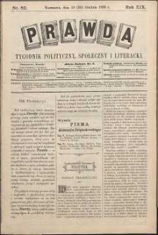 Prawda : tygodnik polityczny, społeczny i literacki, 1899, R. 19, nr 52