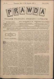 Prawda : tygodnik polityczny, społeczny i literacki, 1897, R. 17, nr 4