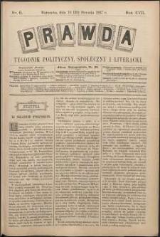 Prawda : tygodnik polityczny, społeczny i literacki, 1897, R. 17, nr 5