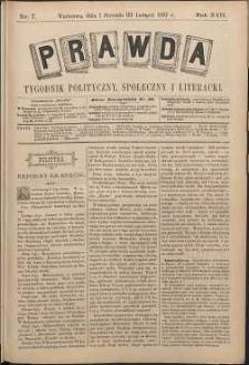 Prawda : tygodnik polityczny, społeczny i literacki, 1897, R. 17, nr 7