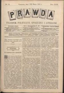 Prawda : tygodnik polityczny, społeczny i literacki, 1897, R. 17, nr 11