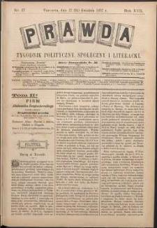 Prawda : tygodnik polityczny, społeczny i literacki, 1897, R. 17, nr 17