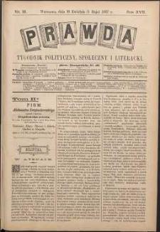 Prawda : tygodnik polityczny, społeczny i literacki, 1897, R. 17, nr 18