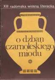 O Dzban Czarnoleskiego Miodu III : Utwory nagrodzone i wyróżnione w Ogólnopolskim Konkursie Poetyckim