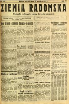 Ziemia Radomska, 1931, R. 4, nr 210