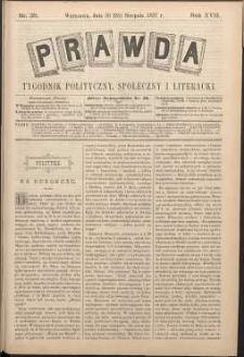 Prawda : tygodnik polityczny, społeczny i literacki, 1897, R. 17, nr 35