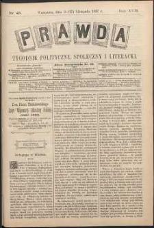 Prawda : tygodnik polityczny, społeczny i literacki, 1897, R. 17, nr 48